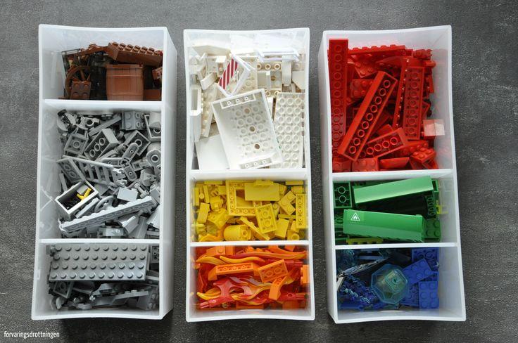Organisera Lego efter färg / Organize LEGO