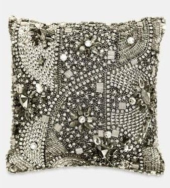 bling for your bed donna karan jewelsu0027 silk pillow online only available at