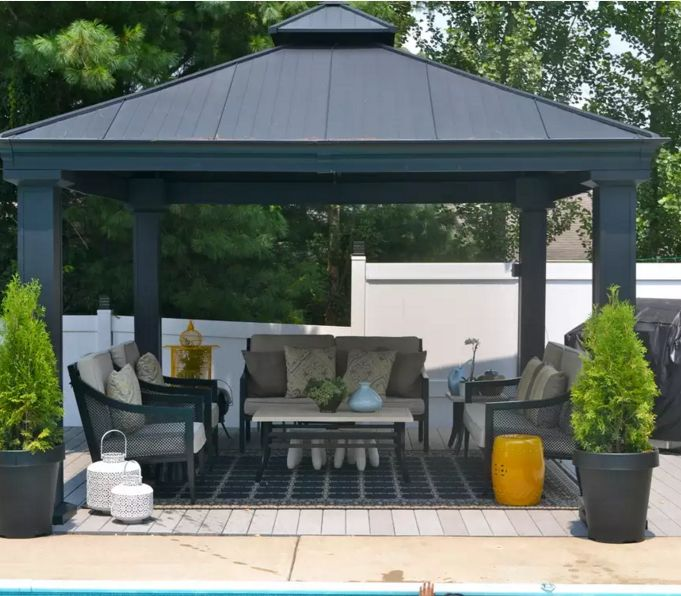 34 metal gazebo ideas to enhance your yard and garden with style - Gazebo Patio Ideas