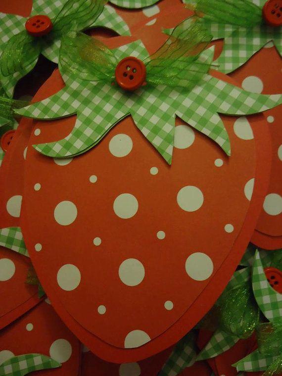 Strawberry shortcake invitations- I can make these!