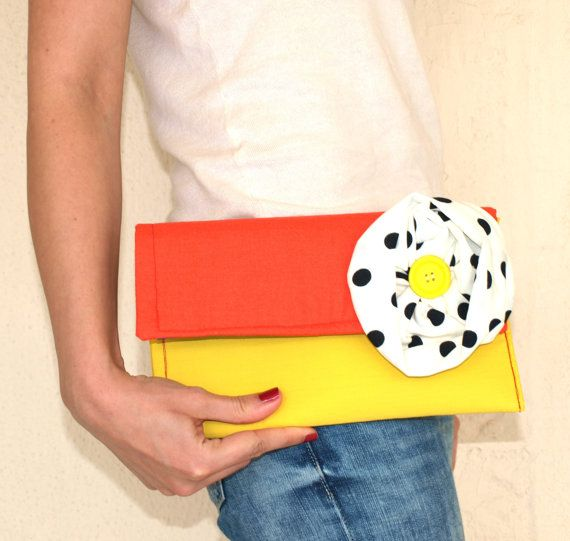 Handmade Clutch Bag / Summer Purse / Cotton Bag with by Ulook, €20.00