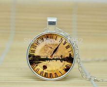 10 шт. стимпанк часы кулон старый лондон стимпанк часы ожерелье часы в стиле стимпанк jewelryGlass кабошон NecklaceA1518(China (Mainland))