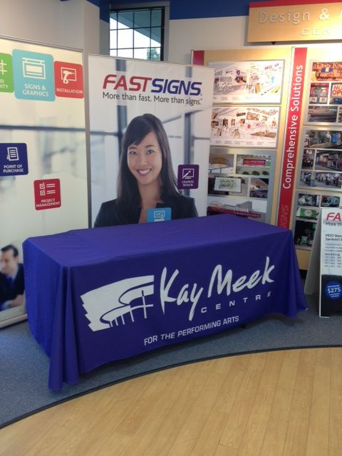 Table Throw produced by Fastsigns Vancouver for Kay Meek Centre #fastsigns