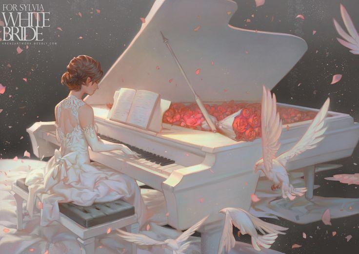 WhiteBride, Krenz Cushart on ArtStation at https://www.artstation.com/artwork/YGxkd