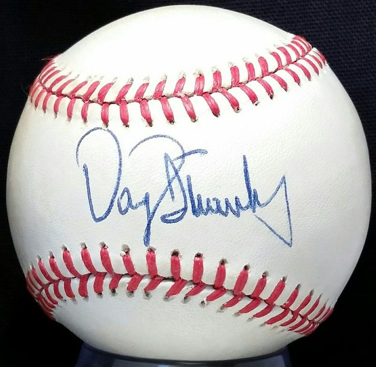 1980s DARRYL STRAWBERRY Signed ONL Feeney Baseball ROOKIE ERA Mets Team vtg auto