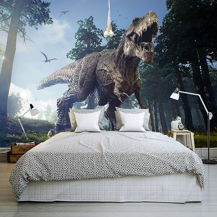 Custom Photo Wall Paper 3D Dinosaurs Wall Painting Mural Wallpapers Bedroom KTV Bar Backdrop Wall Murals Wallpaper Home Decor