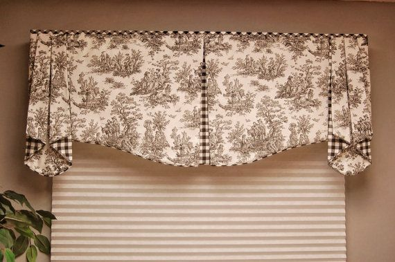 "Custom Valance MAISON Hidden Rod Pocket Valance 30""- 44"" window, Custom made using your fabrics, my LABOR and lining"