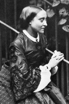 Christina Rossetti, poet and sister of Dante Gabriel Rossetti. Photographed by Charles Lutwidge Dodgeson (Lewis Carroll), 1863