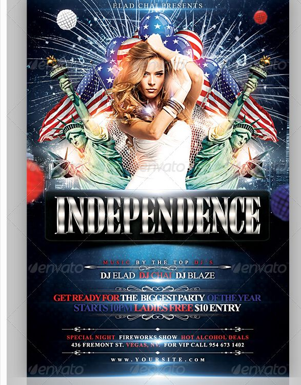 4th of July Independence Day Flyer Template - Party Flyer - independence day flyer