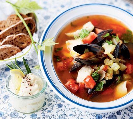 Nem fiskesuppe (bouillabaisse)