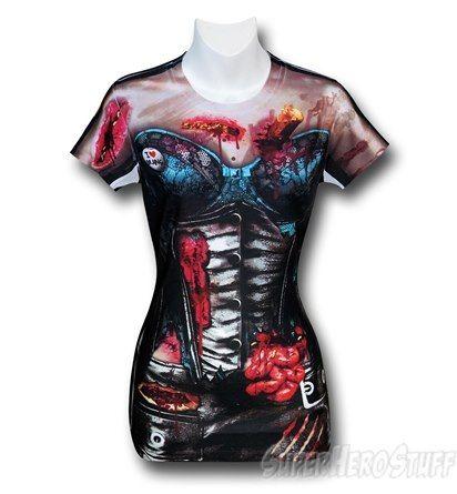 Zombie Corset Costume Juniors T-Shirt