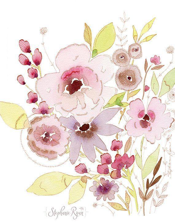Blush Meadow Art Print by stephanieryanart
