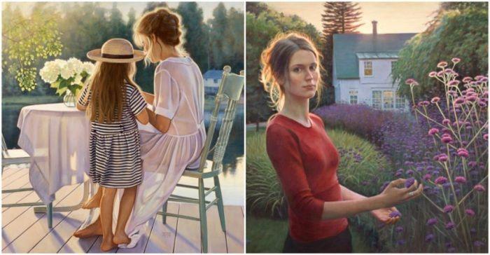 Работы канадской художницы Даниэль Ричард (Danielle Richard) запоминаются особенным светом: от них будто веет летними вечерами, прохладным ветерком на пристани и солнечным теплом.