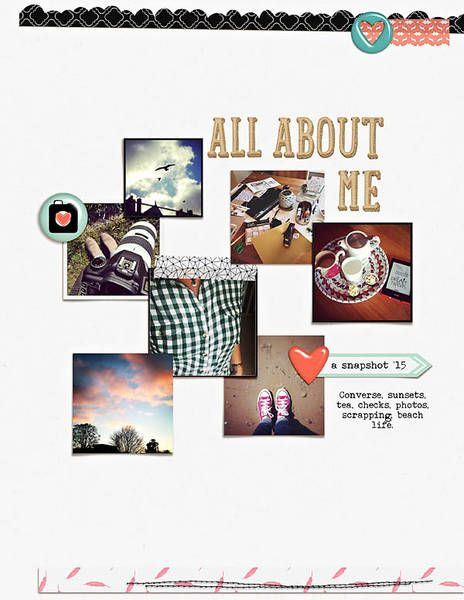 All About Me - Hello Friend papers and elements