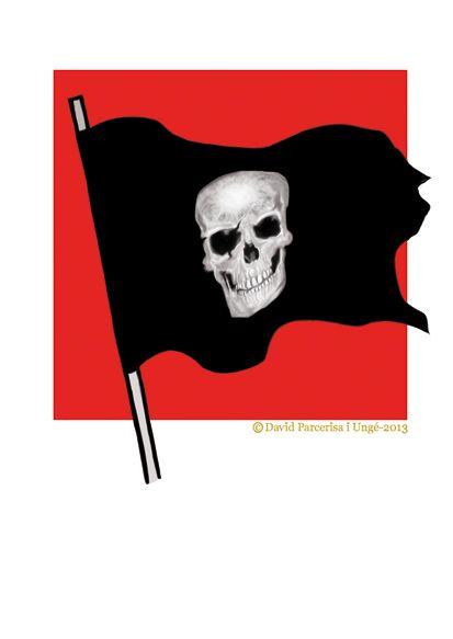 Bandera que significa: NO CAPITULAREM, NO ENS RENDIREM ... per David Parcerisa i Ungé.