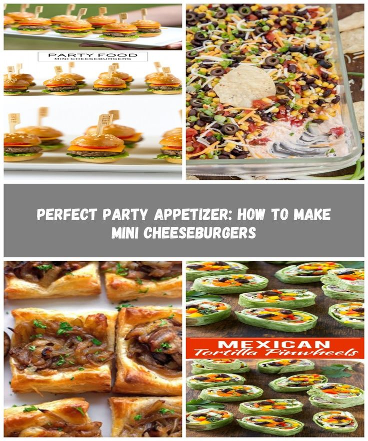 Perfect Party Food: How to Make Mini Cheeseburgers, Pizzazzerie.com #appetizer f…