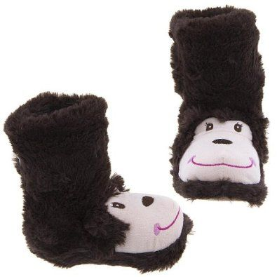 Capelli NY Monkey Animal Bootie Slippers for Girls S/10-11 Capelli New York. $23.99