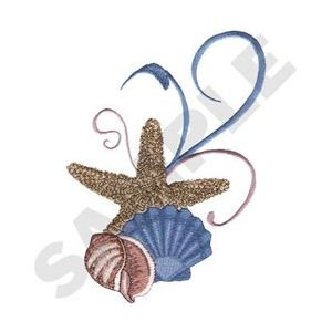 Very pretty.  High stitch count.  Embroidery Designs - Search Results for Starfish