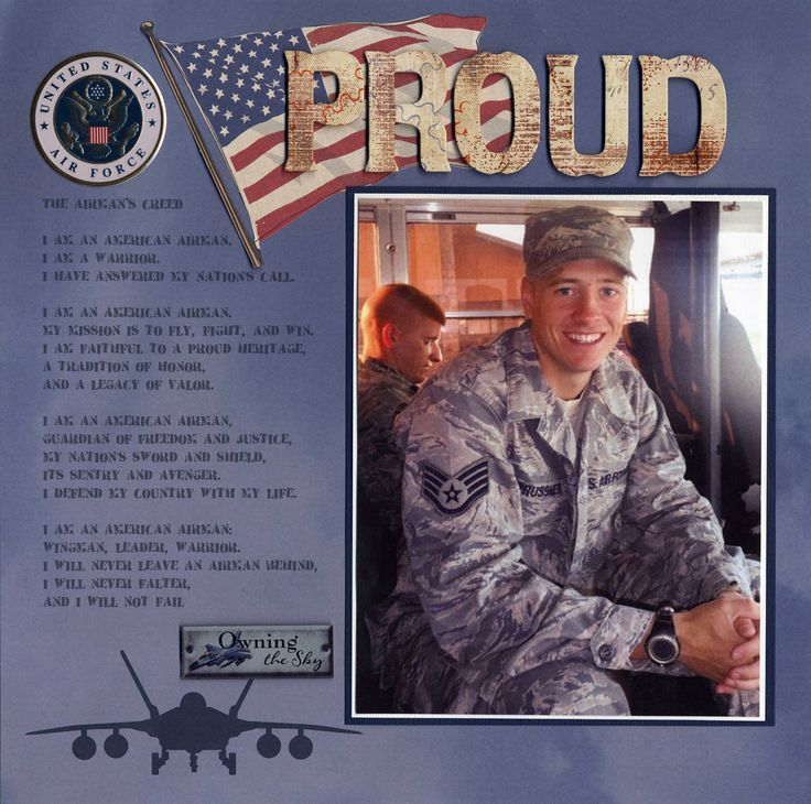 military scrapbooking layouts | Military Air Force Patriotic Layout | Scrapbooking Ideas