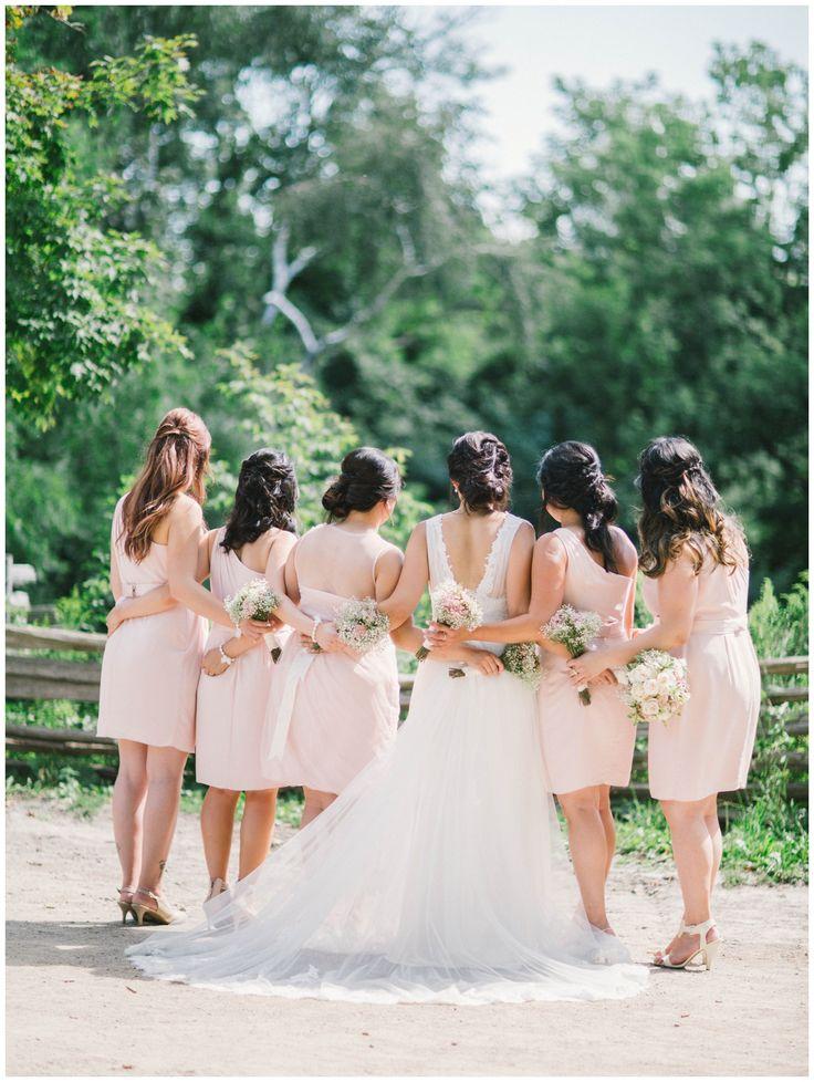 black creek pioneer village wedding, pastel colours. Bridesmaids inspiration.