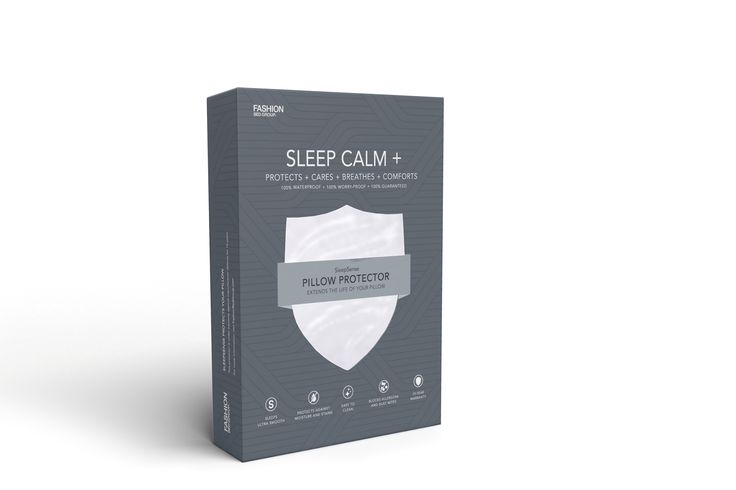 Sleep Calm + Pillow Protector by Fashion Bed Group -- Enjoy a stain-free, allergen-free sleep space thanks to Sleep Calm + Pillow Protectors.