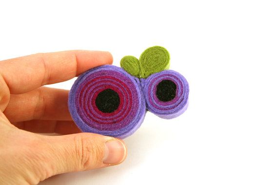Flower brooch/No2 Purple felt anemone brooch/Felt jewelry/Felt brooch/Floral brooch/Brooch pin/Floral jewelry/Under 20/Gifts for her  ► BEFORE