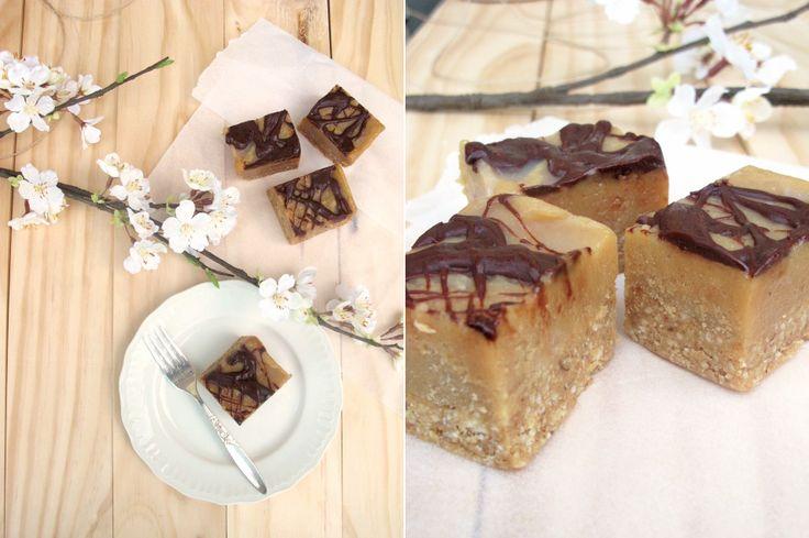 chewy caramel squares (vegan, gluten-free, no sugar)