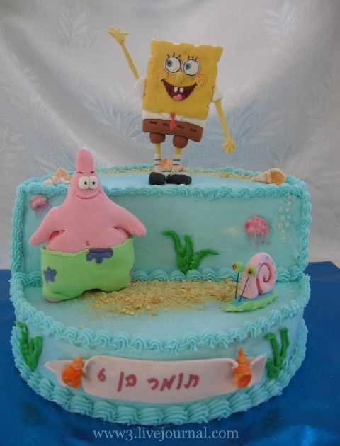 Губка боб торт рецепт фото
