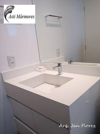 asti-marmores   Banheiros Lavatório em Branco Prime. arquiteto Jan Florez #astimarmores #cubadepedra #brancoprime #janflorez