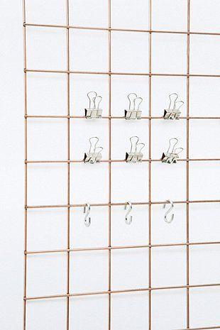 Wire mesh memo-board accessories #wiremesh