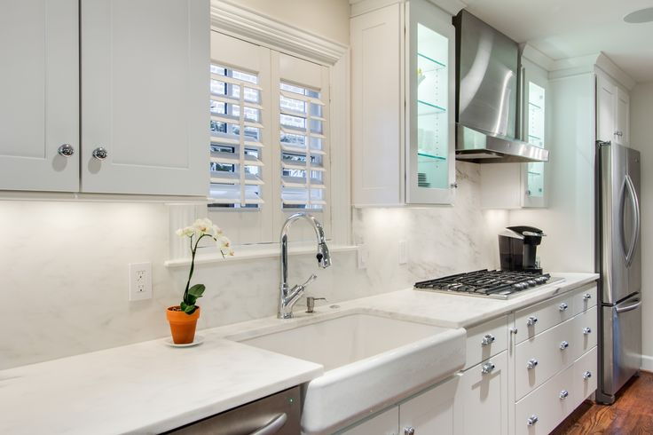 This Modern Kitchen Designed By Kitchen Design Concepts Features WOLF Classic  Cabinets In Dartmouth White.