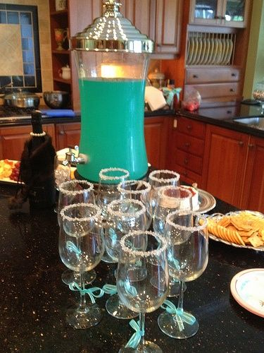 """Breakfast at Tiffany's Party ideas for my Thirty-One team, """"Denise & Co.""""! <3"""