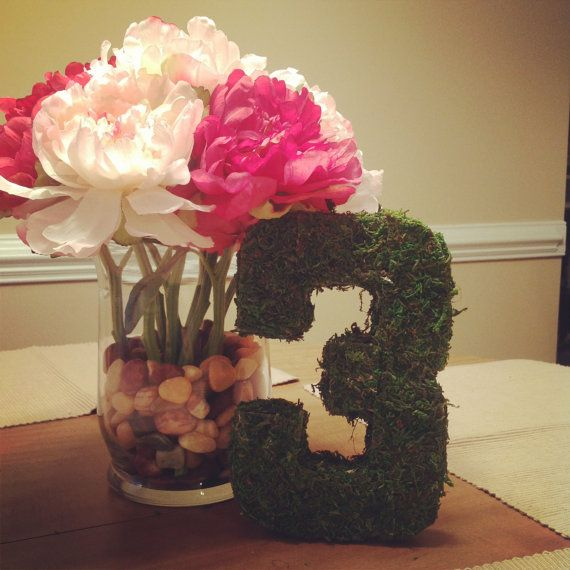 Moss Covered Giant Wedding Table Numbers For By Thebeezeknees 1000
