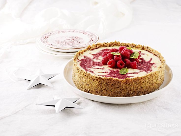 Raspberry Swirl Cheesecake recipe in our I Quit Sugar Christmas Cookbook. Available now through the IQS Online Store for $19.