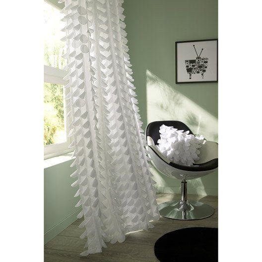 rideau pastilles blanc 140 x 260 cm mon salon pinterest ps. Black Bedroom Furniture Sets. Home Design Ideas