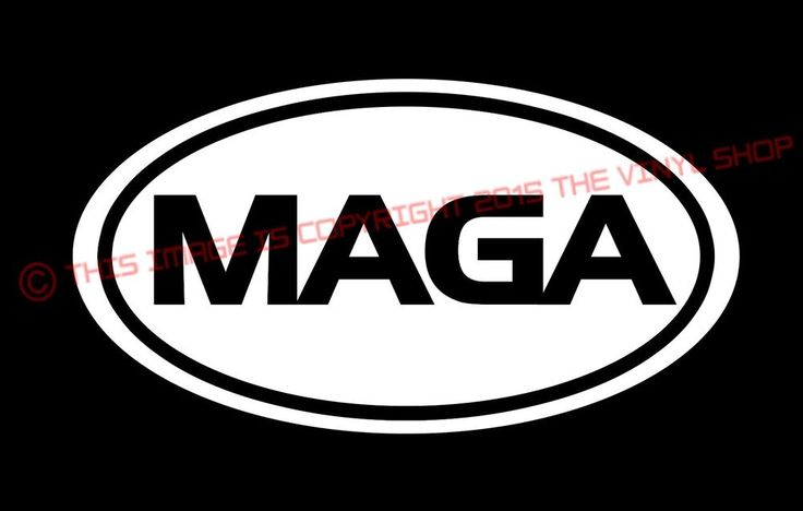 OVAL MAGA Donald Trump President FOR EVERYONE 2016 Vinyl Decal Bumper Sticker  #Oracal