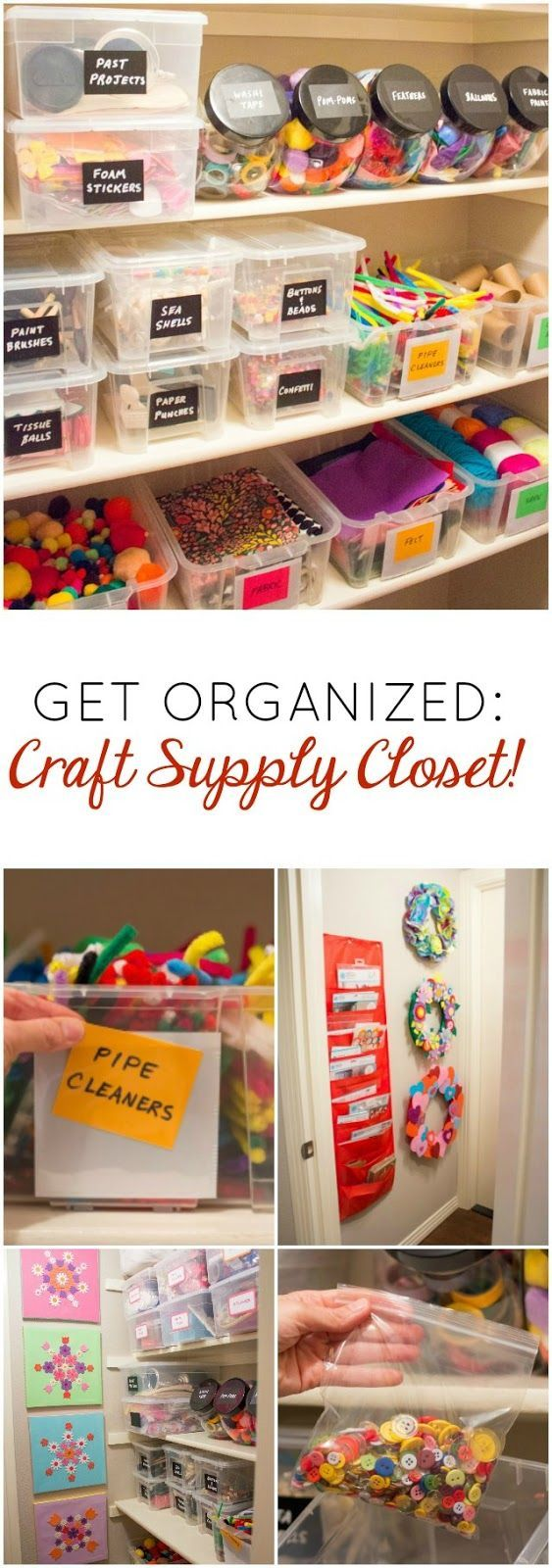 Love This Organized Craft Supply Closet!
