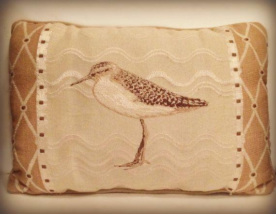 Beach Throw Pillow    Seagull Decor    by BuddyJacksDawgHouse