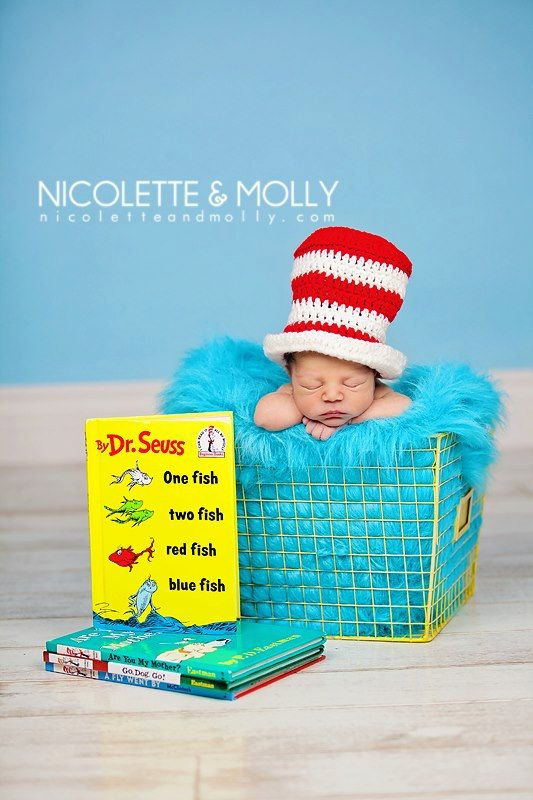 Dr. Seuss inspired Crochet Top Hat Photo Prop Newborn @Mandy Bryant Bryant Bryant Bryant Harlow -Maybe a great idea for your sister!