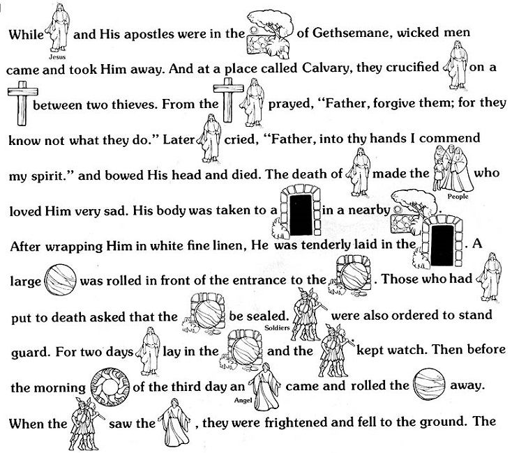 easter story coloring pages printables - Bible Coloring Pages Easter Story