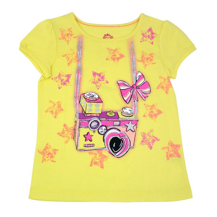 Graphic Tee in Yellow. #garanimals #KidsClothing #spring #summer #stars #camera #PicturePerfect #cute #fun