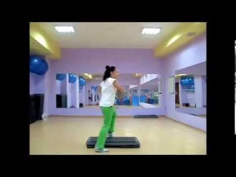 step aerobics 9 степ аэробика раскладка (связка с разучиванием) - YouTube