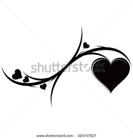black heart tattoo - cover up idea