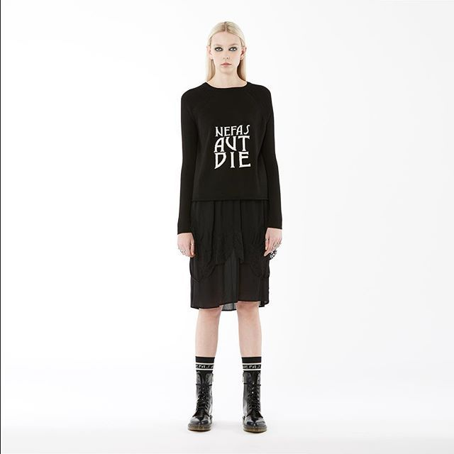 new arrivals: nom*d 'nefas' sweater in 'black merino wool' available instore now! #nomd #dreamordie #zambesistore
