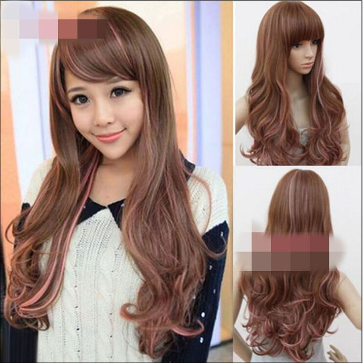 High-Temperature Cosplay Wavy wig (Gradient pink) NHNF0087-Gradient-pink