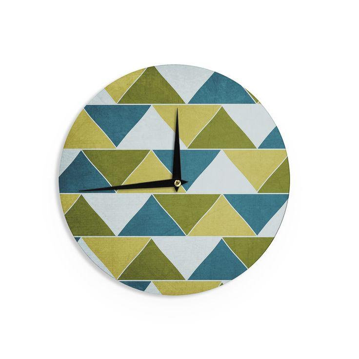 Kess InHouseCatherine McDonald 'Mediterranean' Wall Clock