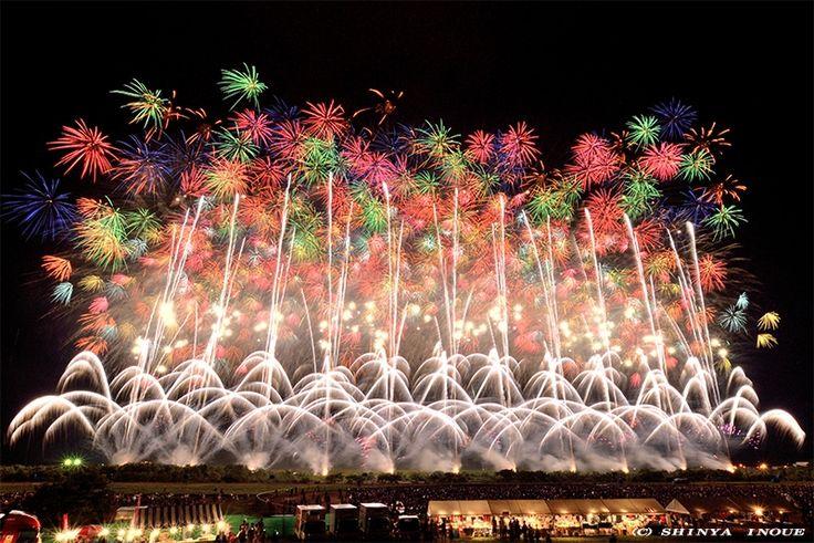 Fireworks at Akagawa, Yamagata, Japan 赤川花火大会