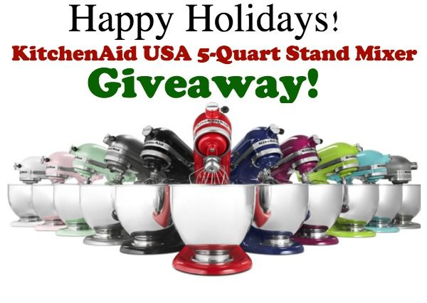 Sharing a giveaway for one KitchenAid USA 5-quart Stand Mixer.