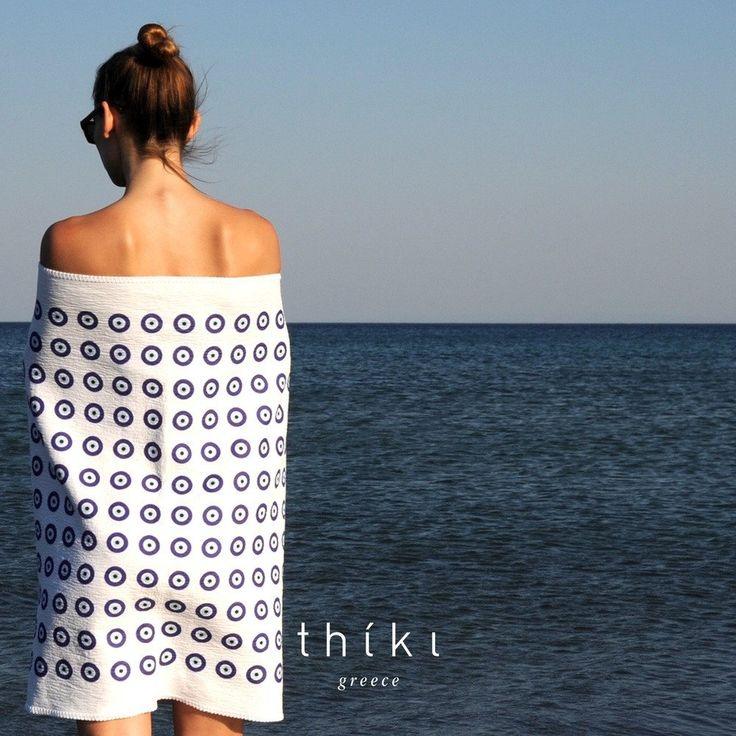 The Evil Eye pattern towel / many colors