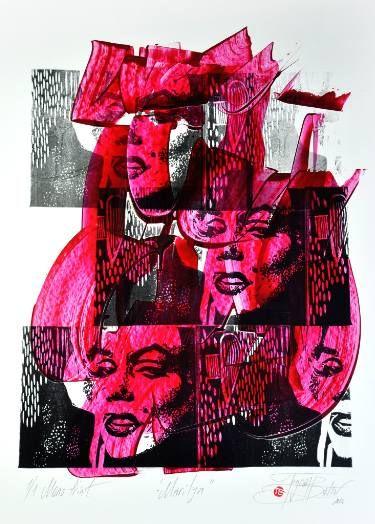"Saatchi Art Artist Tezcan Bahar; Printmaking, ""Marely Series - 3 - Limited Edition 1 of 1"" #art"